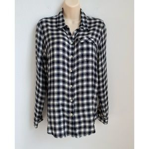 Lucky Brand Women's Flannel Tunic Top